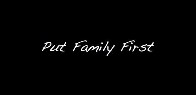 putting family first essay